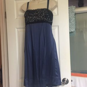 BcbgMaxAzria cocktail dress & rhinestones size 6